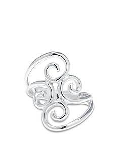 Belk Silverworks Fine Silver Plate Swirl Ring