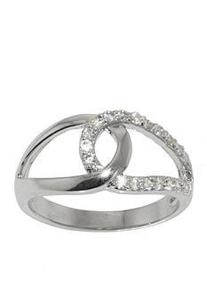 Belk Silverworks Interlocking Cubic Zirconia Ring