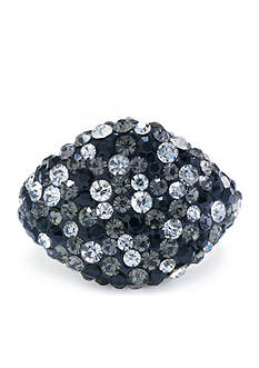 Belk Silverworks Silver Plated Crystal Pave Dome Ring