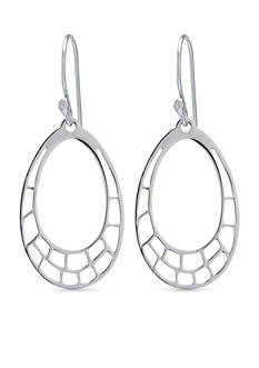 Belk Silverworks Sterling Silver Cutout Oval Drop Earrings