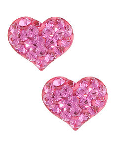 Belk Silverworks Heart Stud Earrings