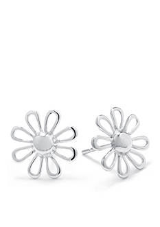 Belk Silverworks Sterling Silver Open Flower Stud Earrings