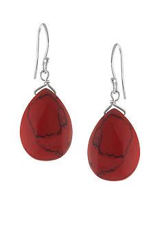 Belk Silverworks Sterling Silver and Red Jasper Teardrop Earring