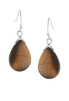 Belk Silverworks Sterling Silver and Tiger Eye Teardrop Earring