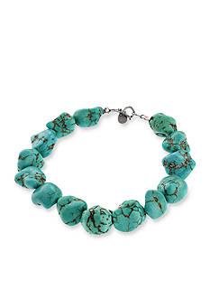 Belk Silverworks Reconstituted Turquoise Nugget Bracelet