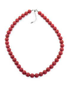 Belk Silverworks Reconstituted Coral Beaded Necklace