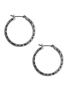 Lucky Brand Jewelry Silver-Tone Small Hoop Earrings