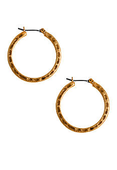 Lucky Brand Jewelry Gold Tone Small Hoop Earrings