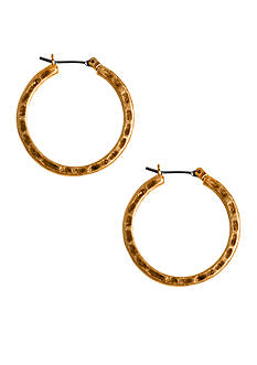 Lucky Brand Jewelry Gold-Tone Small Hoop Earrings