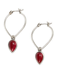 Lucky Brand Jewelry Tear Drop Hoop Earring