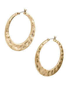 Lucky Brand Jewelry Large Twisted Hoop Earring