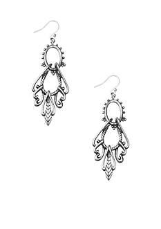 Lucky Brand Jewelry Openwork Chandelier Earrings