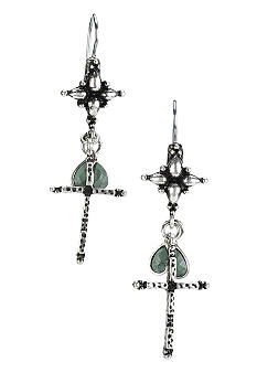 Lucky Brand Jewelry Small Silver Cross Drop Earrings