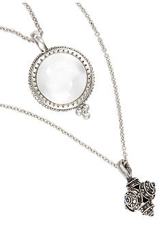 Lucky Brand Jewelry Double Pendant Necklace
