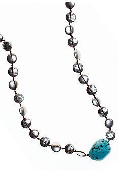 Lucky Brand Jewelry Hammered Long Necklace