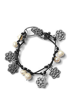 Lucky Brand Jewelry Charm Leather Bracelet