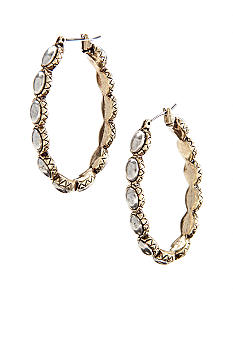 Lucky Brand Jewelry Oblong Hoop Earrings