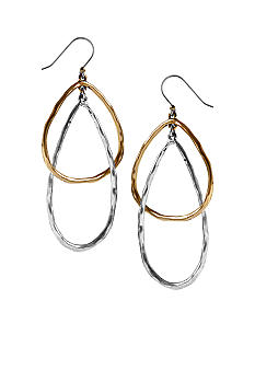 Lucky Brand Jewelry Two-Tone Hoop Earrings