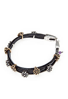 Lucky Brand Jewelry Two Toned Floral Bracelet