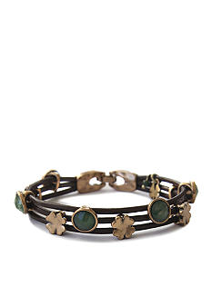 Lucky Brand Jewelry Green Leather Bracelet