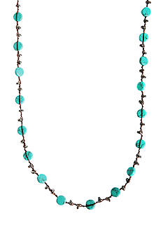 Lucky Brand Jewelry Turquoise Strand Necklace