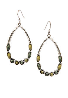 Lucky Brand Jewelry Set Stone Hoop Earrings