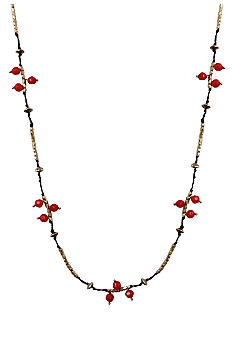 Lucky Brand Jewelry Long Carnelian Necklace