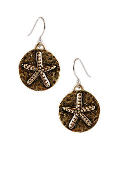 Lucky Brand Jewelry Starfish Drop Earrings