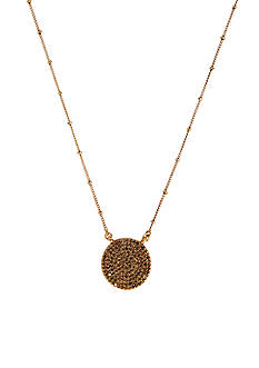 Lucky Brand Jewelry Gold Pave Necklace
