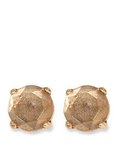 Lucky Brand Jewelry Clear Semi Precious Rock Stud Earring