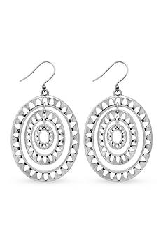 Lucky Brand Jewelry Silver-Tone Openwork Orbital Earrings