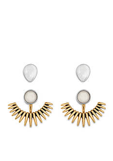 Lucky Brand Jewelry Two-Tone Pearl Earring Set
