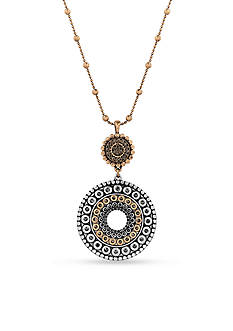 Lucky Brand Jewelry Two-Tone Tribal Pendant Necklace
