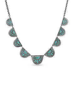 Lucky Brand Jewelry Tribal Turquoise Collar Necklace