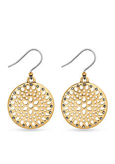Lucky Brand Jewelry Gold-Tone Openwork Drop Earrings