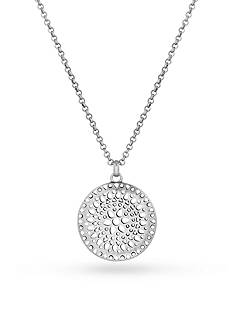 Lucky Brand Jewelry Silver-Tone Openwork Pendant Necklace