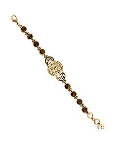 Lucky Brand Jewelry Gold-Tone Tortoise Link Bracelet
