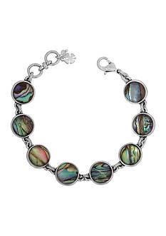 Lucky Brand Jewelry Silver-Tone Abalone Link Bracelet