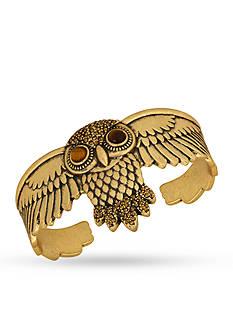 Lucky Brand Jewelry Gold-Tone Owl Cuff Bracelet