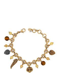 Lucky Brand Jewelry Two-Tone Owl Charm Bracelet