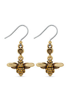 Lucky Brand Jewelry Gold-Tone Bee Dangle Drop Earrings