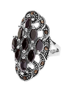 New Directions Marcasite Cluster Ring