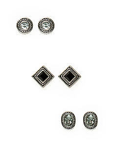 New Directions® Cubic Zirconia Trio Ear Set