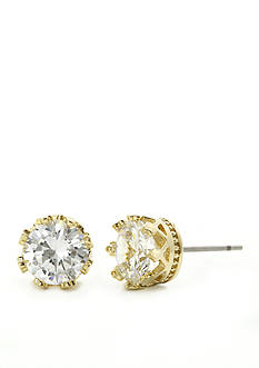 New Directions Round Gold-tone Stud Boxed Earrings
