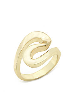 New Directions Gold-Tone Tailored Swirl Boxed Ring