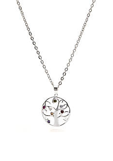 New Directions Silver-Tone Tree of Life Pendant Boxed Necklace