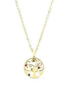 New Directions Gold-Tone Tree of Life Pendant Boxed Necklace