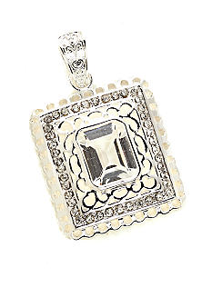 New Directions Emerald Cut Filigree Slide