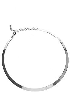New Directions Necklace - Silver Flat Collar