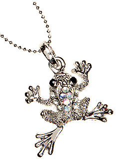 New Directions Crystal Frog Pendant Necklace